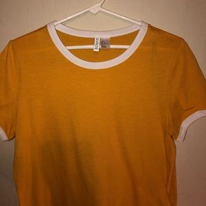 Basic H&M Yellow T-shirt